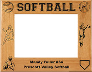 Softball Picture Frame 2 - Personalized