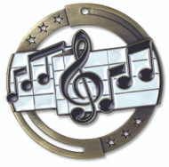 Music M3XL Medal | Engraved Band Medallion | 2.75 Inch Wide