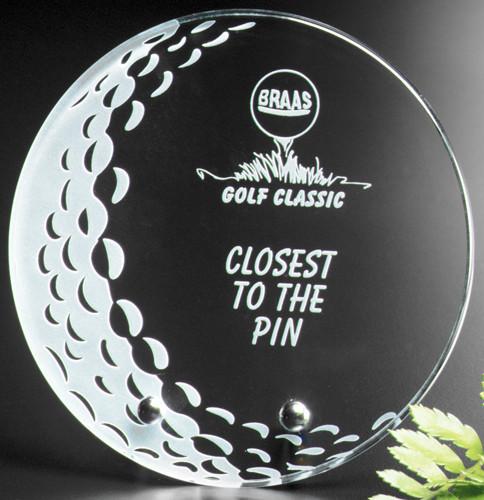 "Burnhaven Crystal Golf Award - Small 5"" Dia."