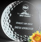 "Burnhaven Crystal Golf Award - Medium 6"" Dia."