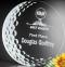"Burnhaven Crystal Golf Award - Large 7"" Dia."