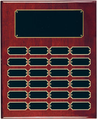Perpetual Plaque with Rosewood Piano-Finish  - 24 plates