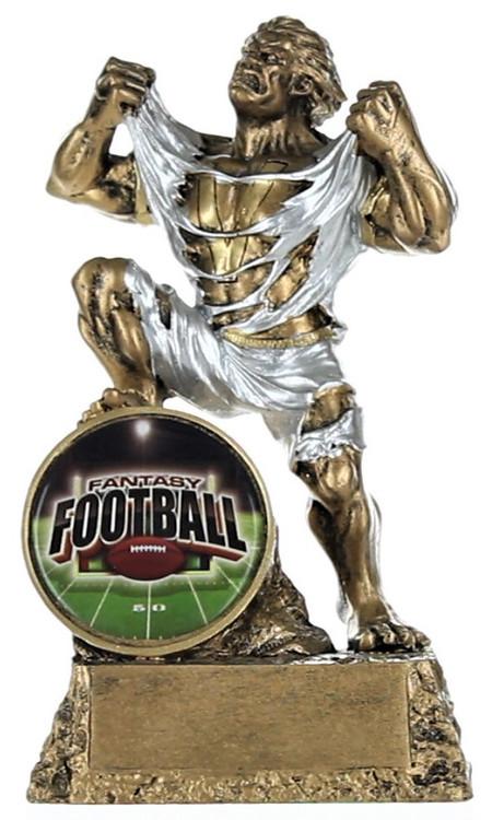 Fantasy Football Shield Monster Trophy | Engraved FFL Beast Award - 6.75 Inch Tall