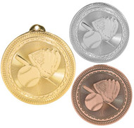 Softball BriteLazer Medal - Gold, Silver & Bronze | Engraved Slow Pitch Medallion | 2 Inch Wide