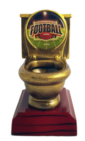 Fantasy Football Toilet Bowl Trophy | FFL Loser Award | Fantasy League Golden Throne Prize | 5 Inch Tall