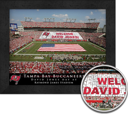 Personalized Tampa Bay Buccaneers Stadium Print Raymond James Stadium Picture Tampa Bay Buccaneers Card Stunt Framed Print