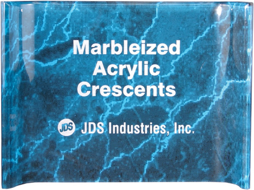 Marbleized Crescent Acrylic Award - Blue