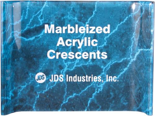 Marbleized Crescent Acrylic Award - Blue