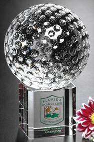 Stratus Crystal Golf Award