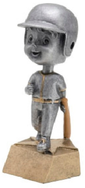 Pewter Baseball Bobblehead Trophy