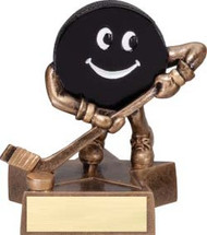 Hockey Lil' Buddy Trophy | Engraved Smiling Hockey Award - 4 Inch Tall