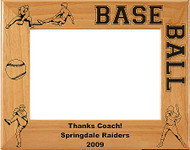 Baseball Picture Frame 4 - Personalized