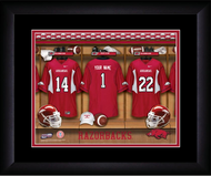 Arkansas Razorbacks Football Locker Room Print - Personalized