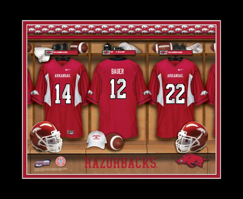 452a58e44 Arkansas Razorbacks Football Locker Room Print - Personalized. See 2 more  pictures. Swipe For More Images. undefined  undefined  undefined  undefined  ...