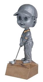 Pewter Golf Bobblehead Trophy - Male