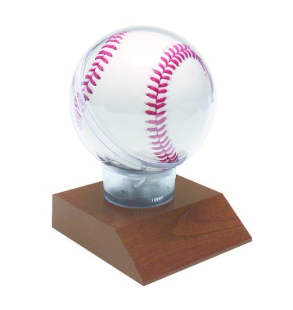 All Star Baseball Holder - Cherry Base - Personalized