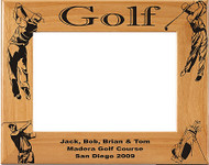 Golf Male Picture Frame - Personalized