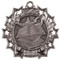 Reading Ten Star Medal - Gold, Silver or Bronze | Literacy 10 Star Medallion | 2.25 Inch Wide Reading Ten Star Medal - Silver