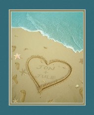 Sand Names at the Beach Print - Personalized