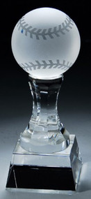 Crystal Baseball Trophy