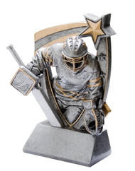 Hockey Goalie 3-D Star Resin Trophy