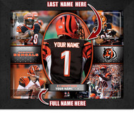 Cincinnati Bengals Action Collage Print - Personalized