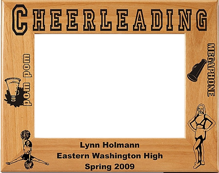 Cheerleading Picture Frame- Personalized