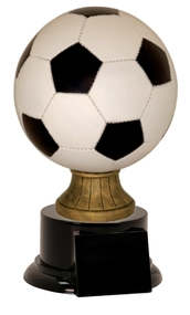 Full Size Color Soccer Ball Resin Trophy