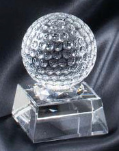 Golf Ball Crystal Trophy 2