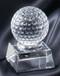 Golf Ball Crystal Trophy 2