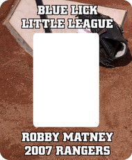 Baseball Picture Frame - Home Plate