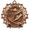 Track Ten Star Medal - Gold, Silver or Bronze | Running 10 Star Medallion | 2.25 Inch Wide Track Ten Star Medal - Bronze
