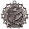 Track Ten Star Medal - Gold, Silver or Bronze | Running 10 Star Medallion | 2.25 Inch Wide Track Ten Star Medal - Silver