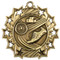 Track Ten Star Medal - Gold, Silver or Bronze | Running 10 Star Medallion | 2.25 Inch Wide Track Ten Star Medal - Gold