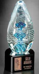 Synergy Art Glass Corporate Award - 7""