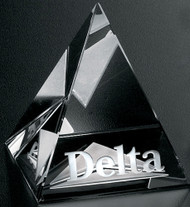 Pyramid Crystal Corporate Award - Small 2.75""