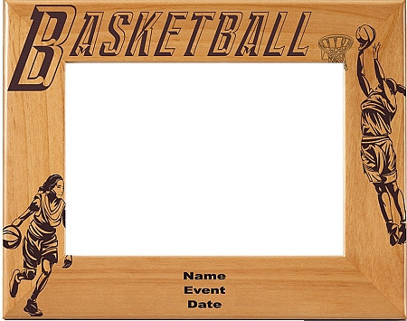 Basketball Female Picture Frame 1 - Personalized