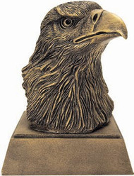 Eagle Head Mascot Sculptured Trophy | Engraved Eagle Award - 5.5 Inch Tall