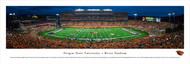 Oregon State University Panorama Print #3 (50 Yard - Night) - Unframed