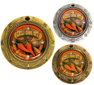 Chili Cook-Off World Class Medal - Gold, Silver & Bronze | Engraved Chili Competition Medallion | 3 Inch Wide