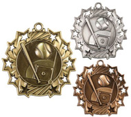 Baseball Ten Star Medal - Gold, Silver or Bronze | Baseball League 10 Star Medallion | 2.25 Inch Wide