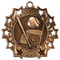 Baseball Ten Star Medal - Gold, Silver or Bronze | Baseball League 10 Star Medallion | 2.25 Inch Wide Baseball Ten Star Medal - Bronze