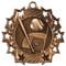 Baseball Ten Star Medal - Gold, Silver or Bronze | Baseball League 10 Star Medallion | 2.25 Inch Wide Baseball Ten Star Medal - Bronze
