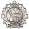 Baseball Ten Star Medal - Gold, Silver or Bronze | Baseball League 10 Star Medallion | 2.25 Inch Wide Baseball Ten Star Medal - Silver