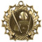 Baseball Ten Star Medal - Gold, Silver or Bronze | Baseball League 10 Star Medallion | 2.25 Inch Wide Baseball Ten Star Medal - Gold