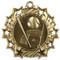 Baseball Ten Star Medal - Gold, Silver or Bronze | Baseball League 10 Star Medallion | 2.25 Inch Wide Baseball Ten Star Medal - Gold