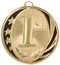 1st, 2nd, 3rd Place MidNite Star Medals - Gold, Silver or Bronze | Engraved Place Medallion | 2 Inch Wide 1st Place MidNite Star Medal - Gold
