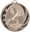 1st, 2nd, 3rd Place MidNite Star Medals - Gold, Silver or Bronze | Engraved Place Medallion | 2 Inch Wide 2nd Place MidNite Star Medal - Silver