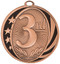 1st, 2nd, 3rd Place MidNite Star Medals - Gold, Silver or Bronze | Engraved Place Medallion | 2 Inch Wide 3rd Place MidNite Star Medal - Bronze