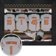 Baltimore Orioles Locker Room Print - Personalized
